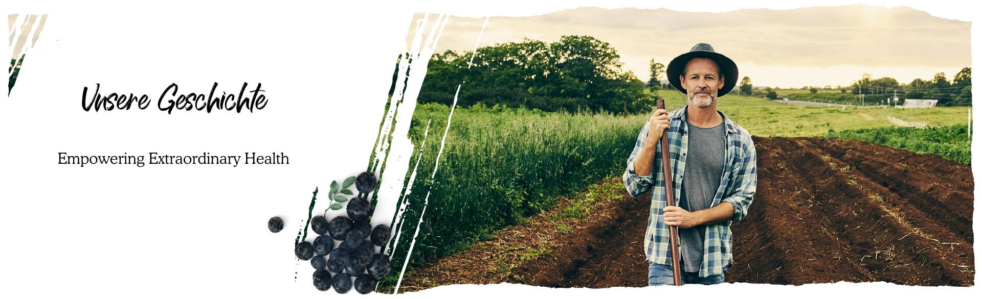 Farmer walking through the field