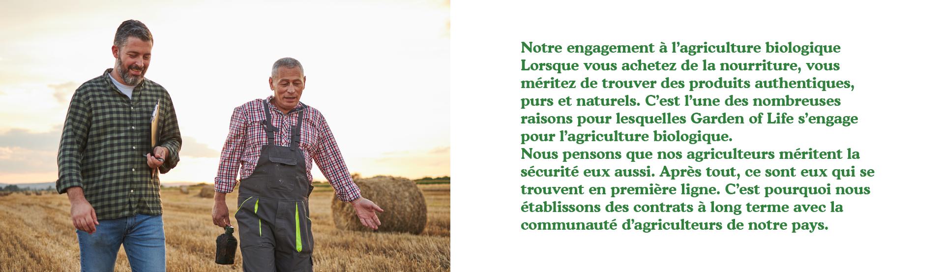 Notre engagement en faveur de l'agriculture biologique