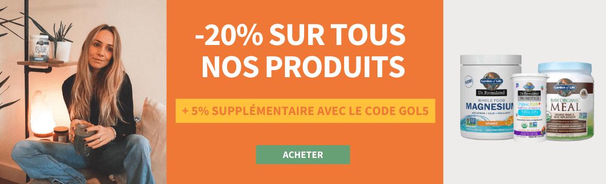 Remise de 25% sur tous nos produits avec code GOL5 et livraison gratuite