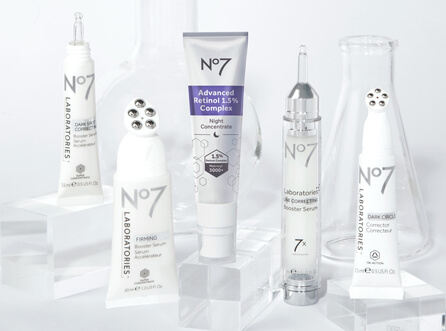 New No7 Laboratories Range