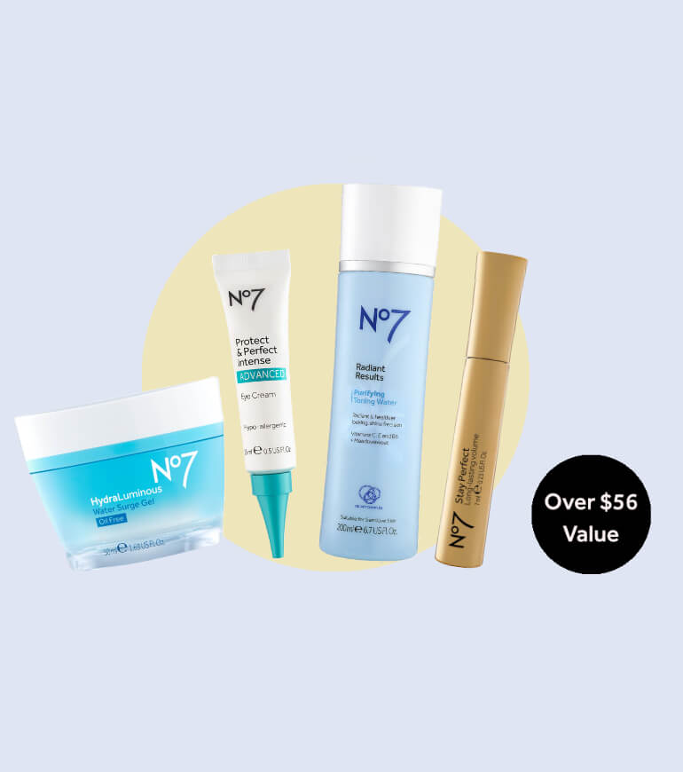 4 FREE Full-Size Products. Yours with any $69+ order