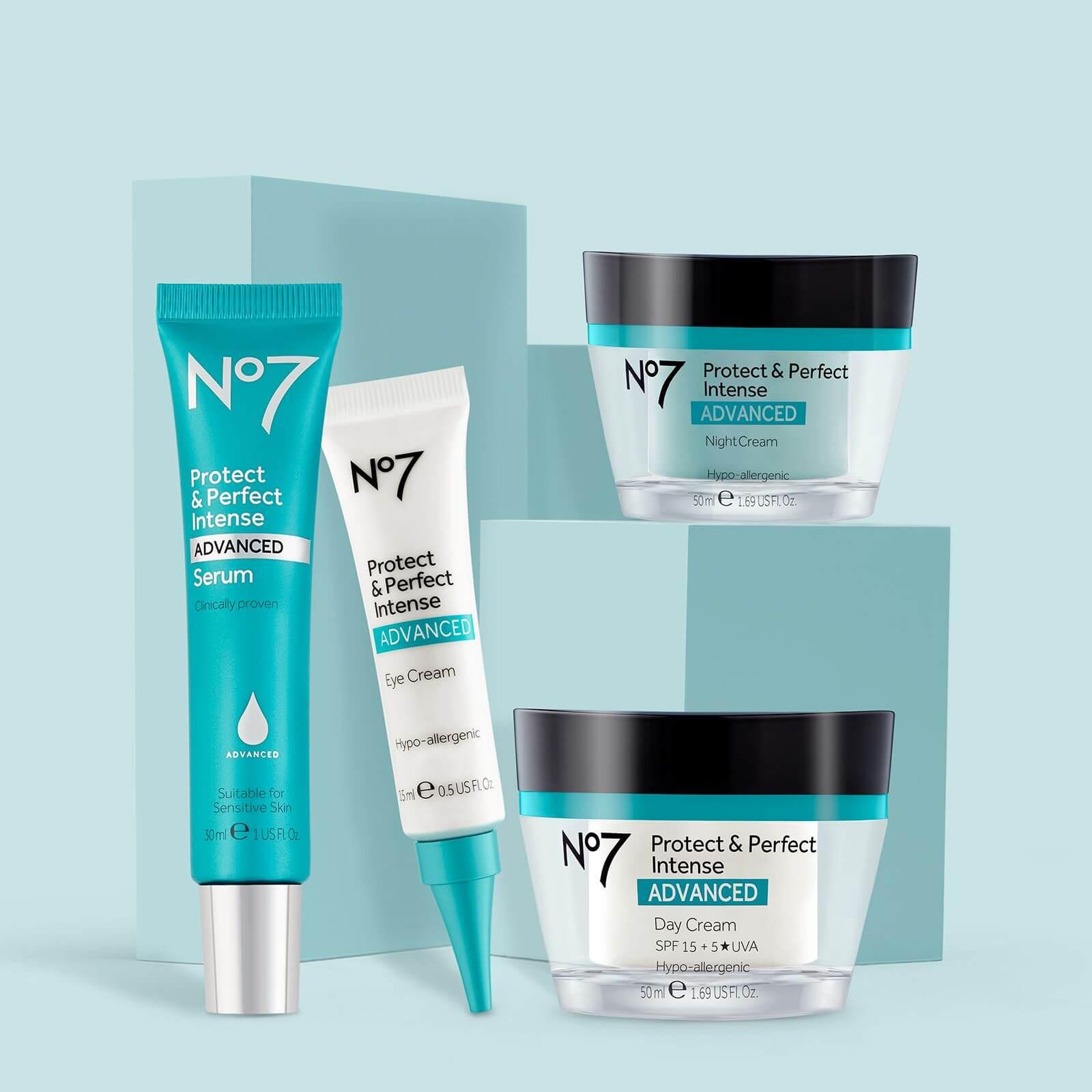 No.7 Protect & Perfect Range: Serum, Eye Cream, Night Cream and Day Cream