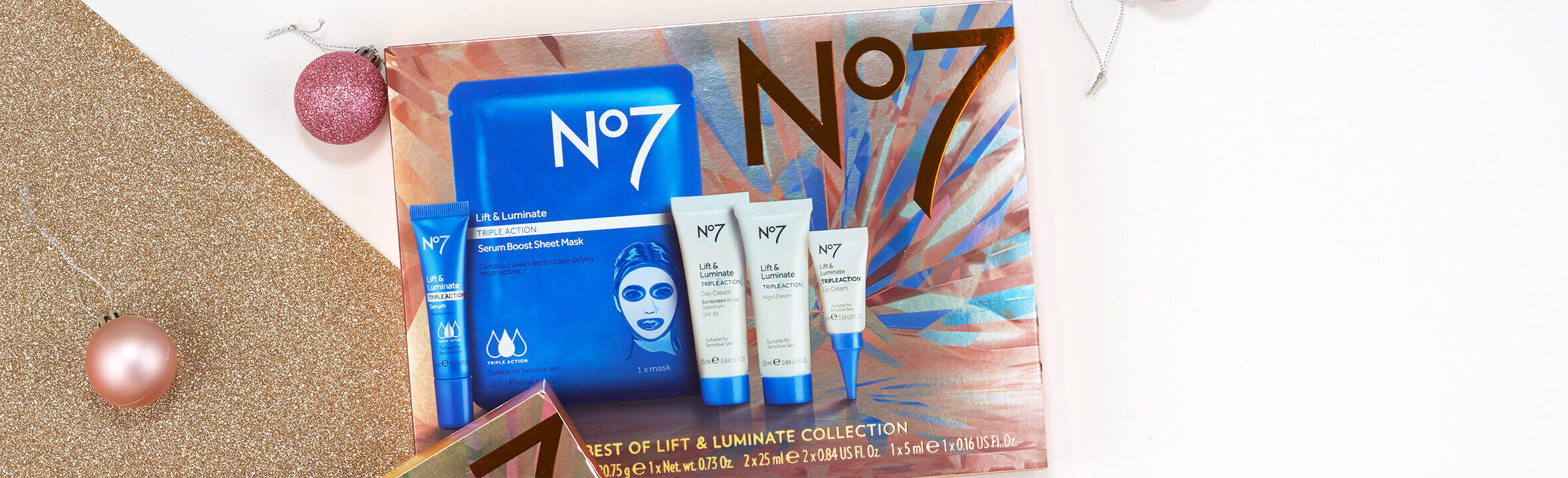 No.7 Lift & Luminate Holiday Gift Set