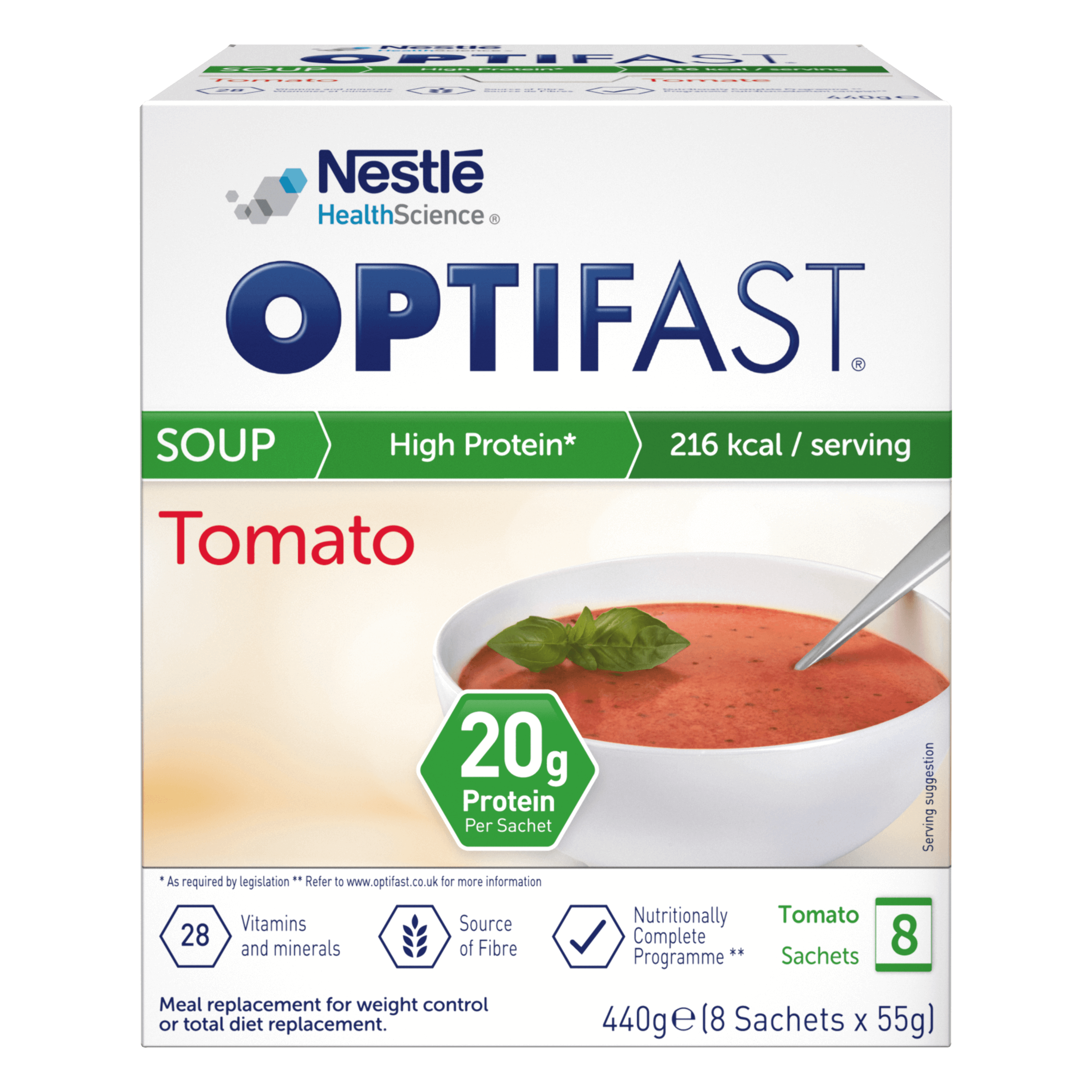 Image of the tomato flavour OPTIFAST soup