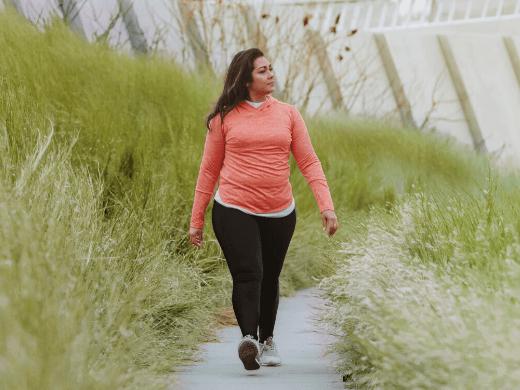 Image of a woman walking