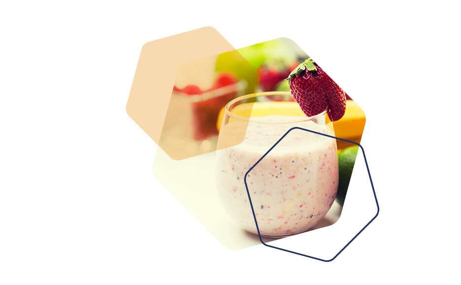 Image of a strawberry meal replacement shake