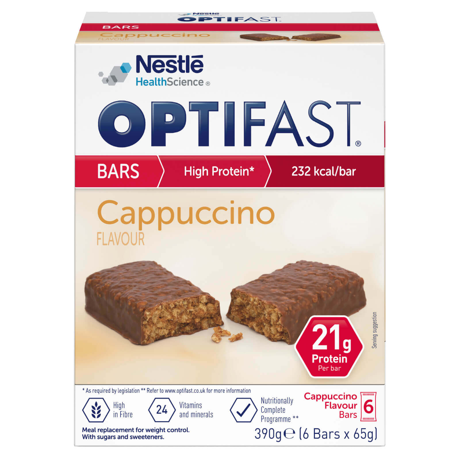 Image of the chocolate flavour OPTIFAST bars
