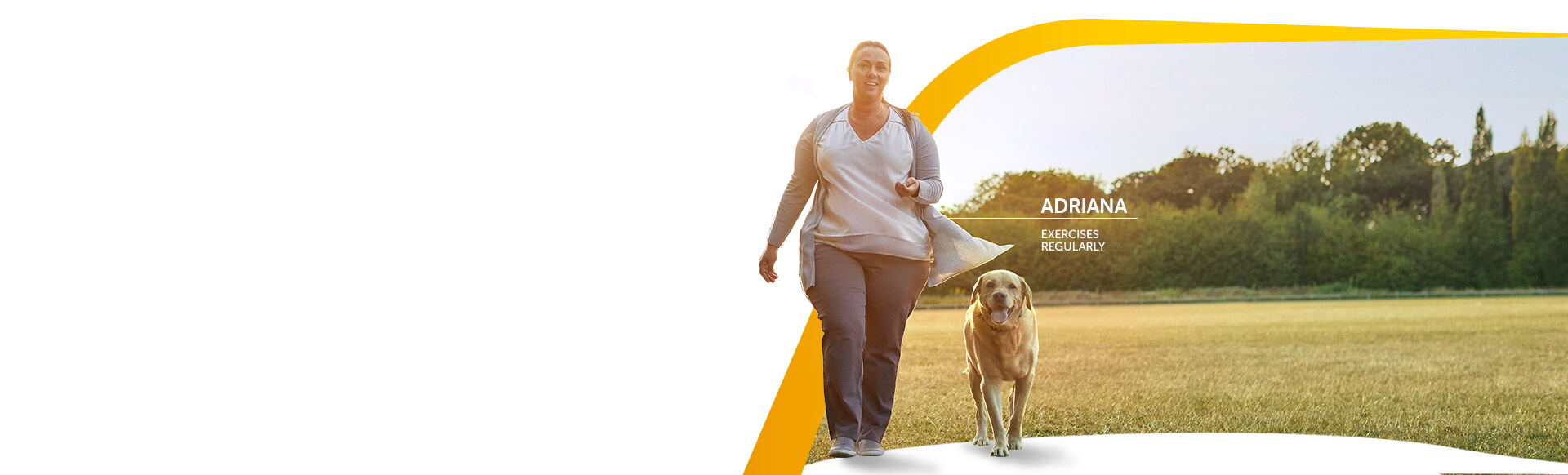 Image of a woman who exercises regularly with her dog