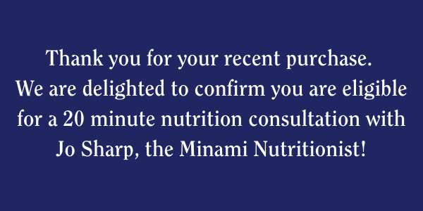 Claim your 20-minute nutrition consultation with our qualified Nutritionist Jo!