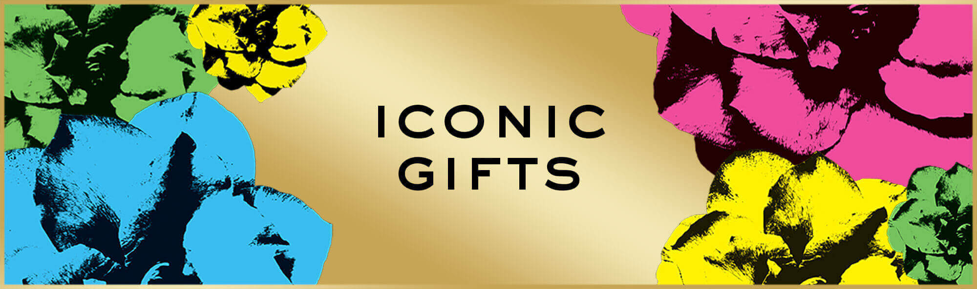 Iconic Gifts Banner With Coloured Flowers