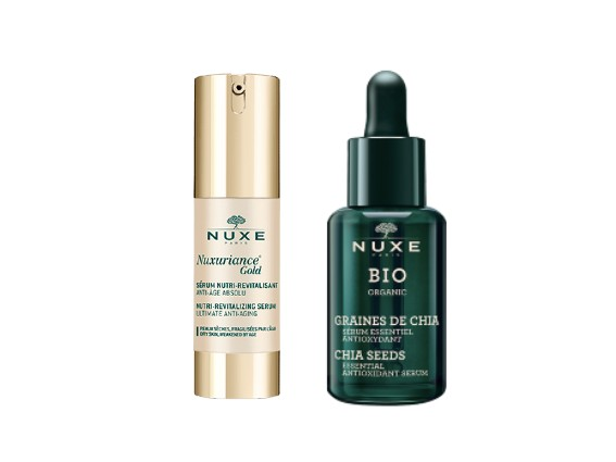 Serums. NUXE Face serums aim to boost your creams' efficiency. For a perfect beauty routine, apply your serum before your daily cream to get the best results.