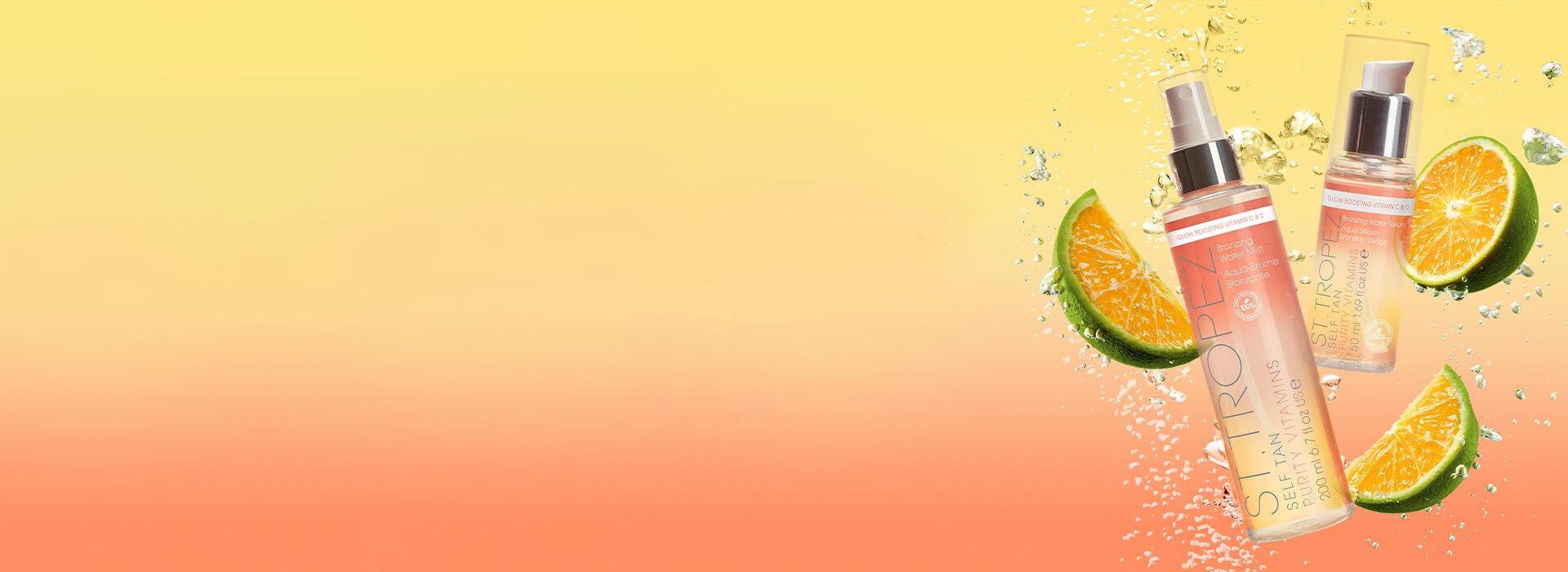 St.Tropez Self Tan Purity Vitamins Bronzing Waters range