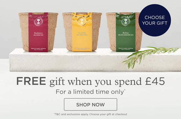 Free Gift when you spend £45
