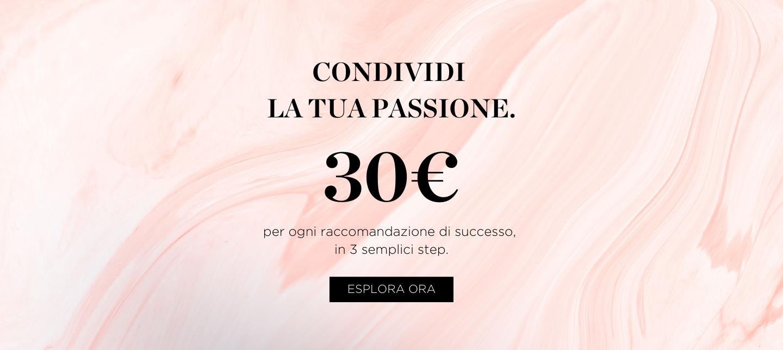 Condividi la tua passione. 30€ per ogni raccomandazione di successo in 3 semplici step. Perricone MD.