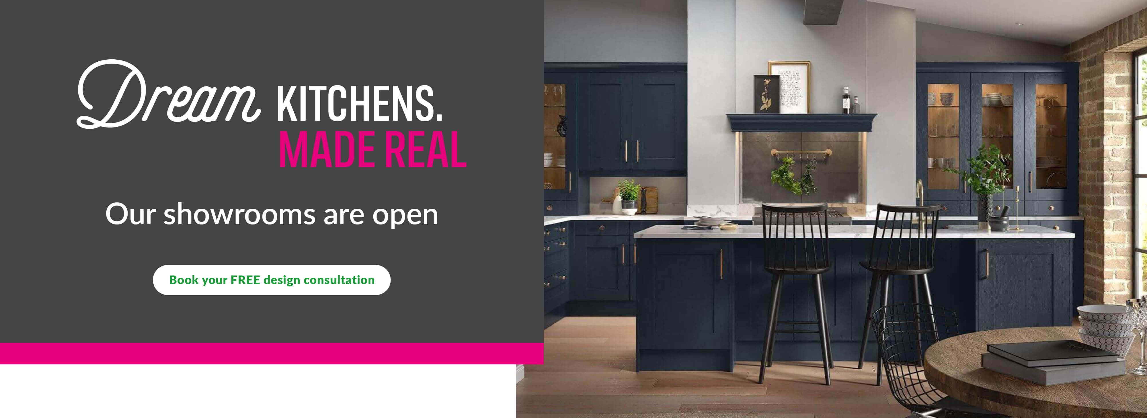 Dream Kitchens. Real Savings. Get 50% off when you kick off your kitchen renovation. Half price, plus 15% off, plus a free dishwasher