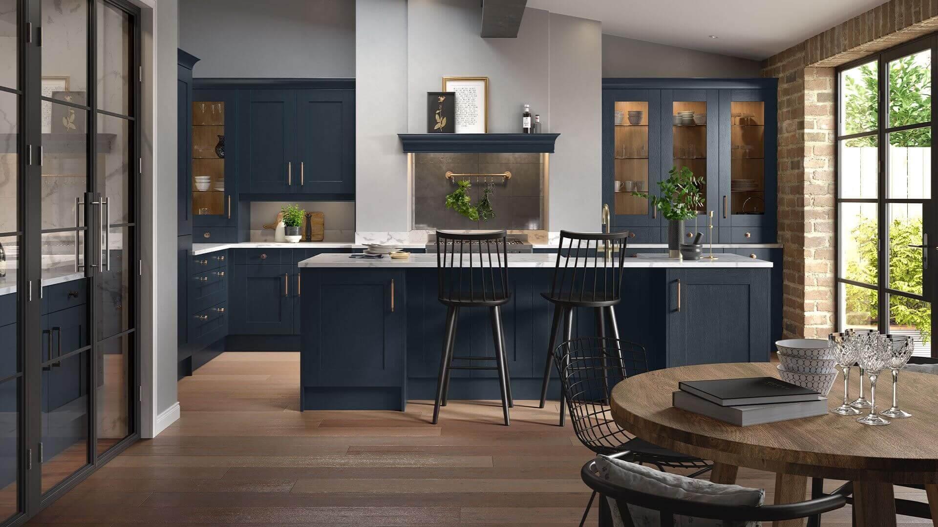 Blue Kitchen Styles Kitchens Homebase