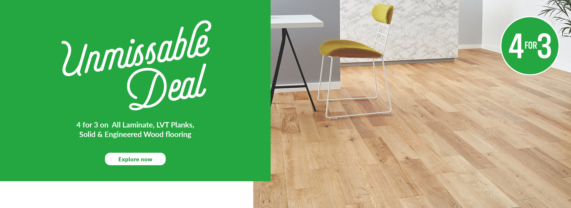 Stop you in your tracks. Check out our floor visualiser to see how our new laminate flooring styles could transform your space. Try it now.