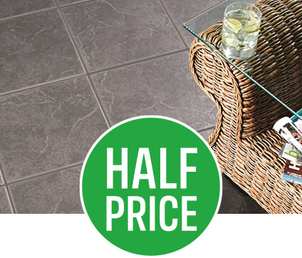 Get 50% off Cuba Anthracite Floor Tiles 9 Pack