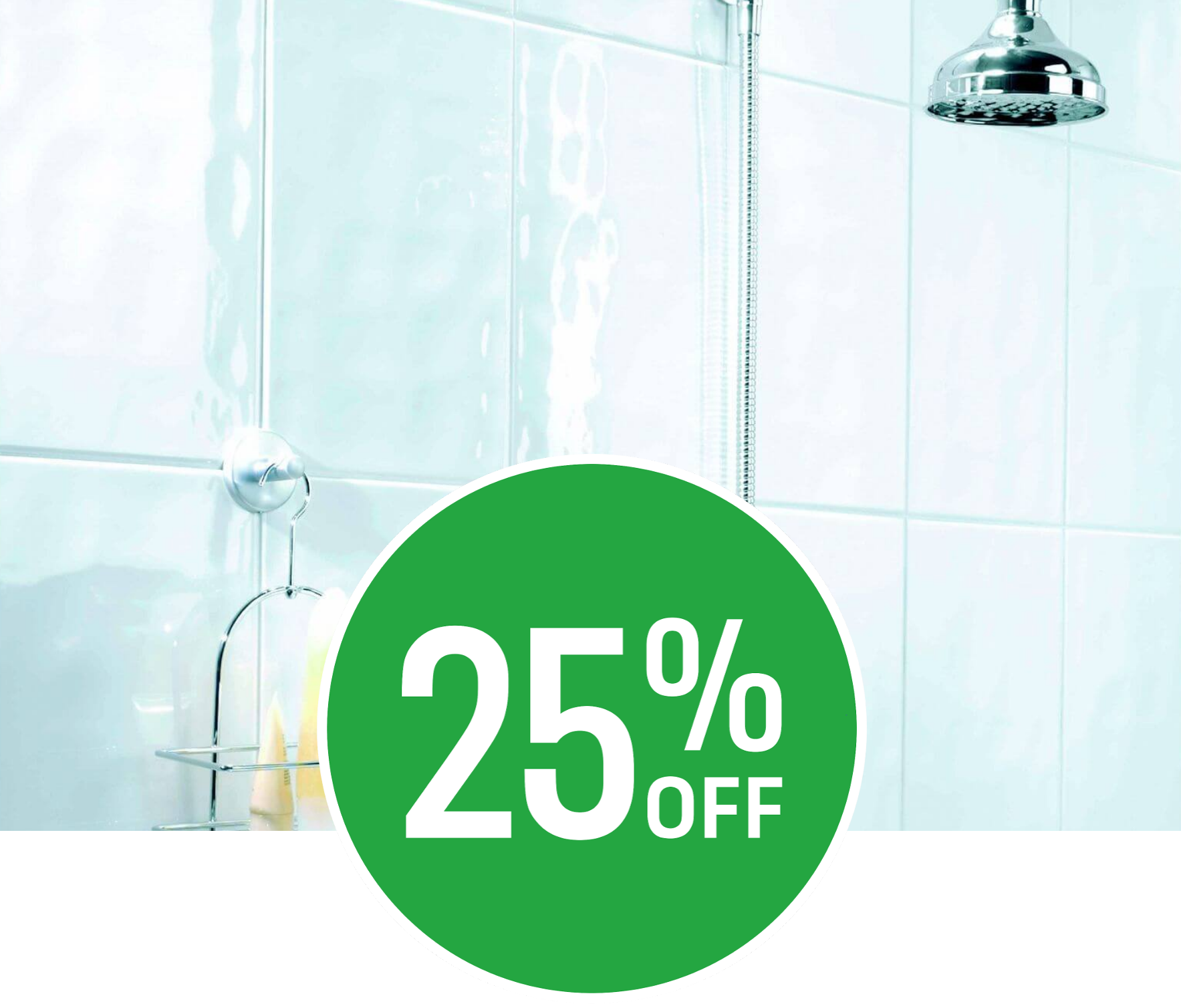 25% off Bumpy Wall Tiles - White - 250 x 400mm - 10 pack