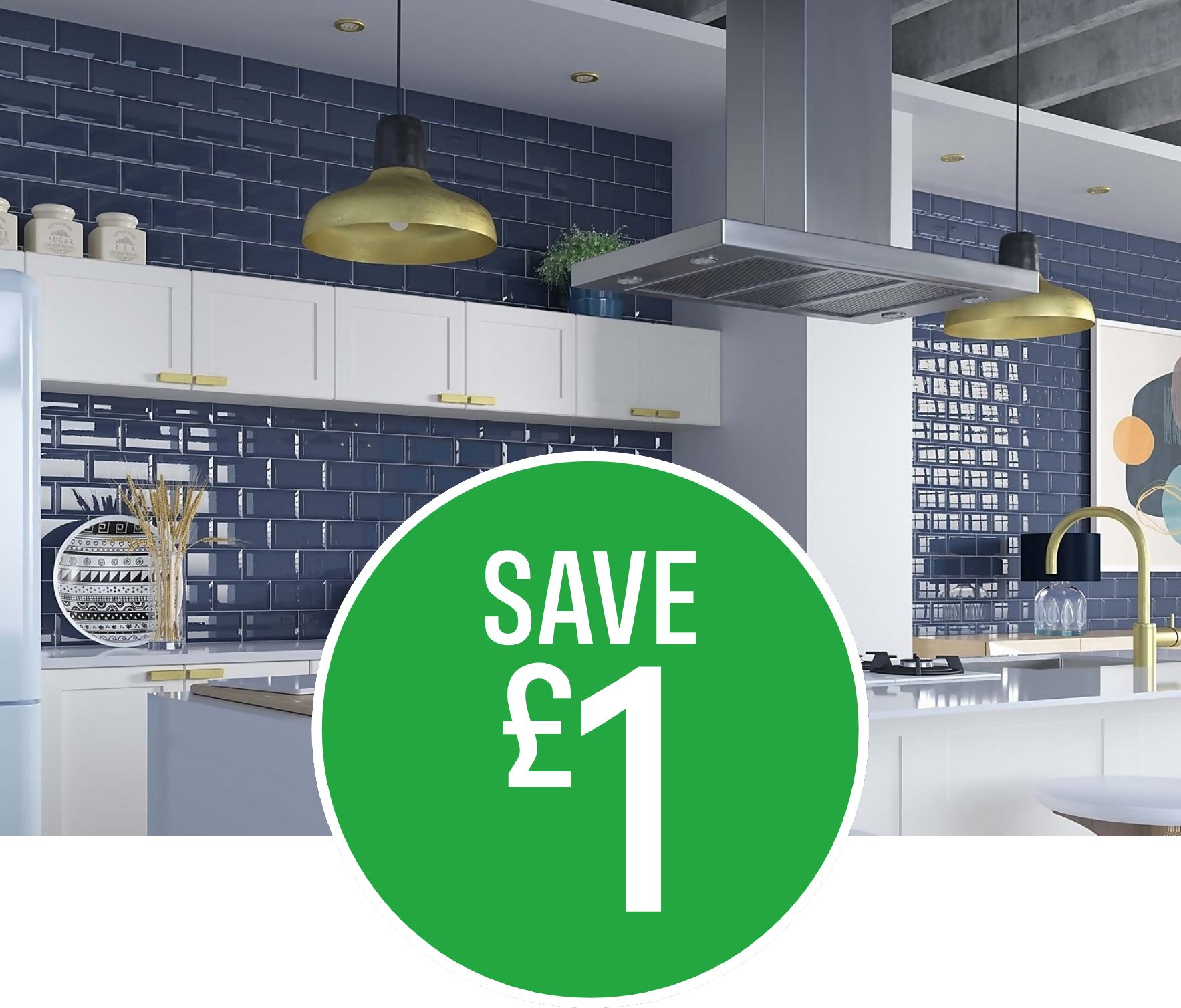 Save £1 on Metro Navy Wall Tile - 25 pack