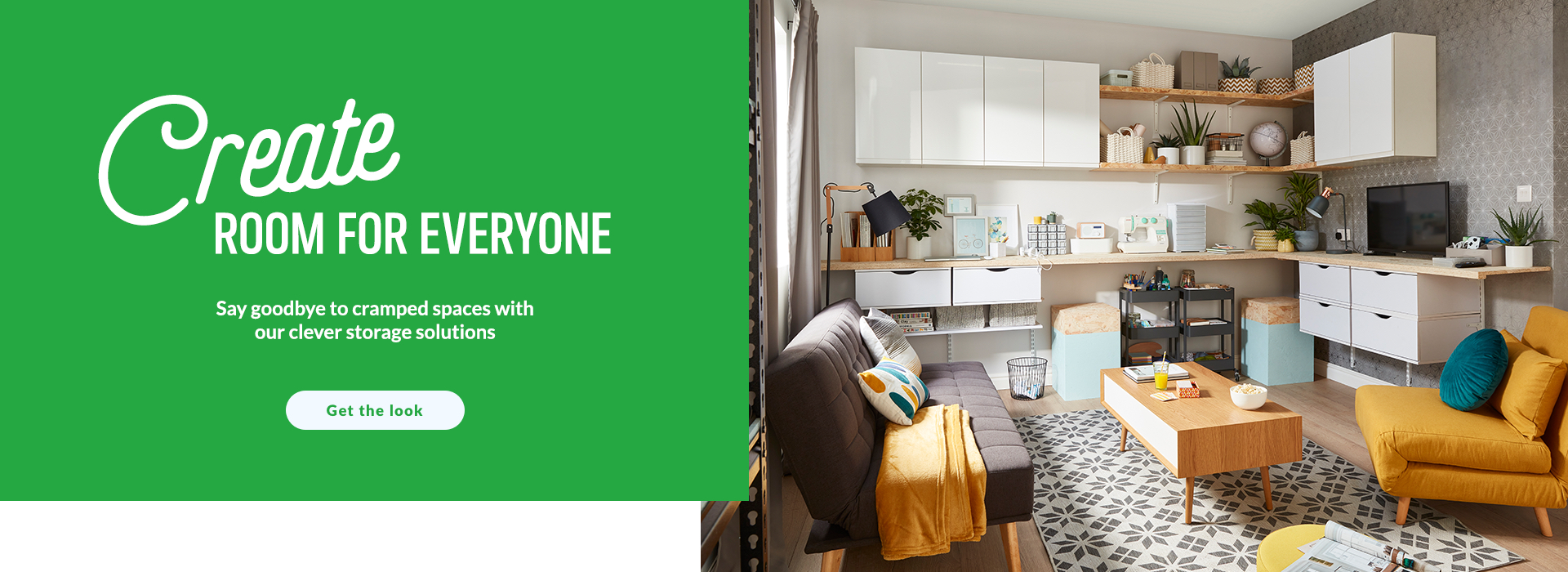 Create room for everyone. Hit the refresh on cramped spaces with our clever storage solutions. Shop now.