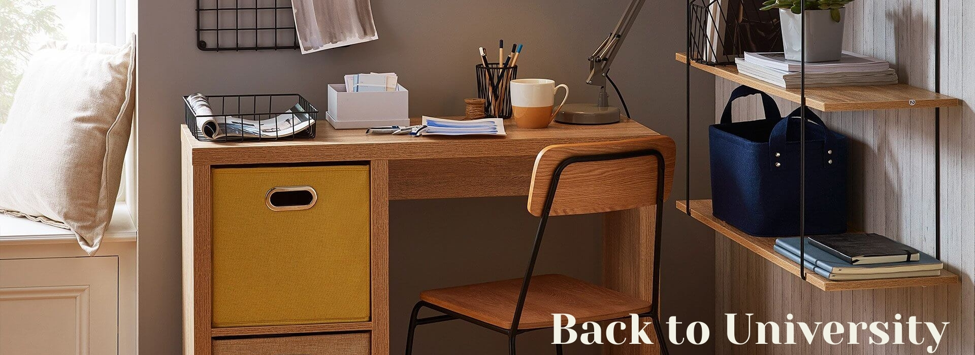Back to University - Student desk in a room
