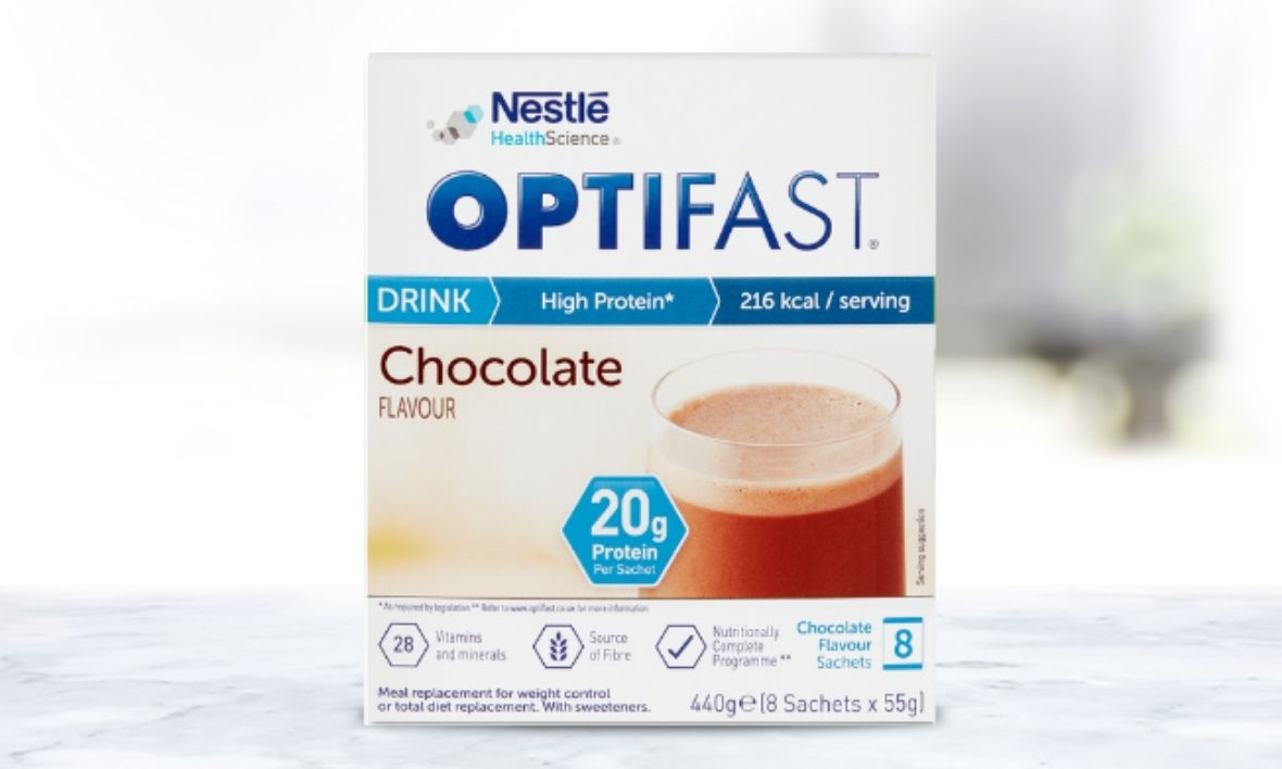 OPTIFAST Chocolate flavoured meal replacement shake box
