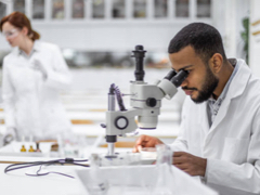 Man working in the lab
