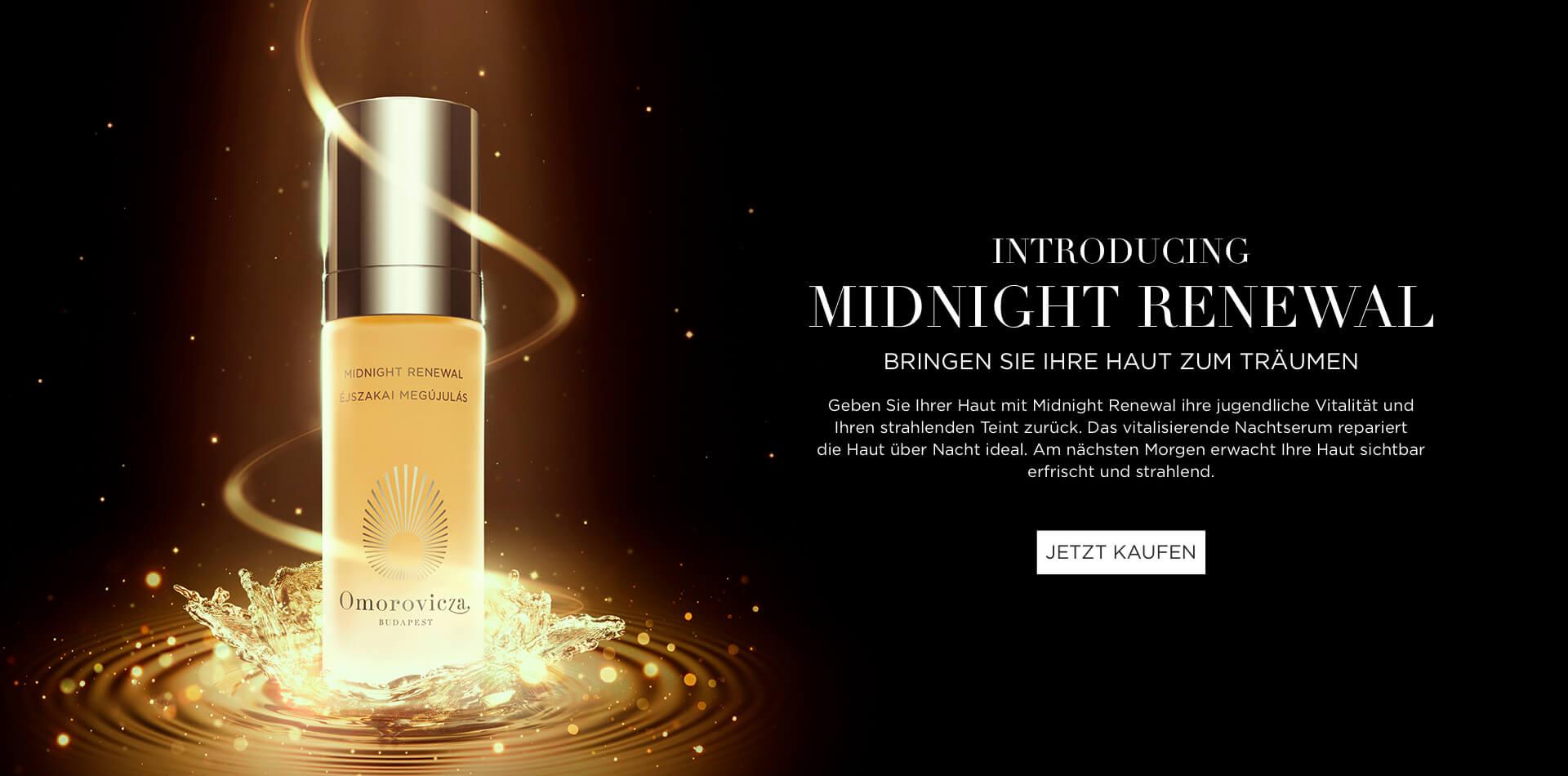 Introducing Midnight Renewal. Bringen Sie Ihre Haut zum Träumen. Geben Sie Ihrer Haut mit Midnight Renewal ihre jugendliche Vitalität und Ihren strahlenden Teint zurück. Das vitalisierende Nachtserum repariert die Haut über Nacht ideal. Am nächsten Morgen erwacht Ihre Haut sichtbar erfrischt und strahlend.