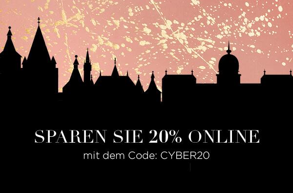 20 % Rabatt auf alle Produkte: Code CYBER20