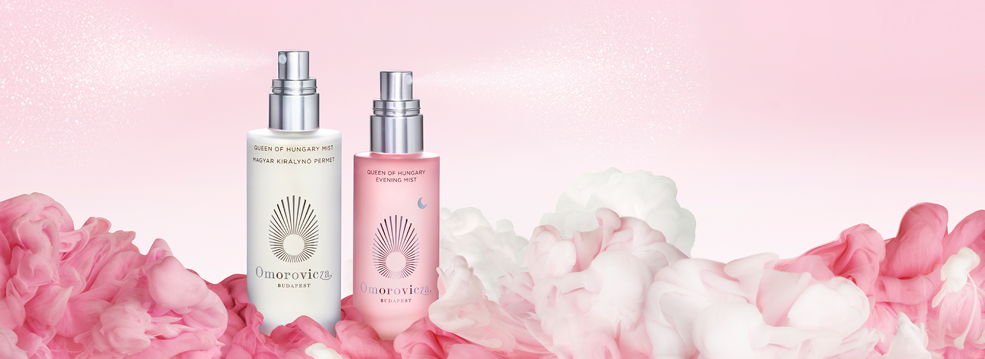 Introducing our Queen of Hungary Evening Mist. Why just sleep, when you could dream? Enhance the restorative quality of sleep for skin with the Queen of Hungary Evening Mist: a luxurious pre-pillow facial mist combining repair-enhancing actives with calming lavender extract, for an indulgent veil of beauty sleep.