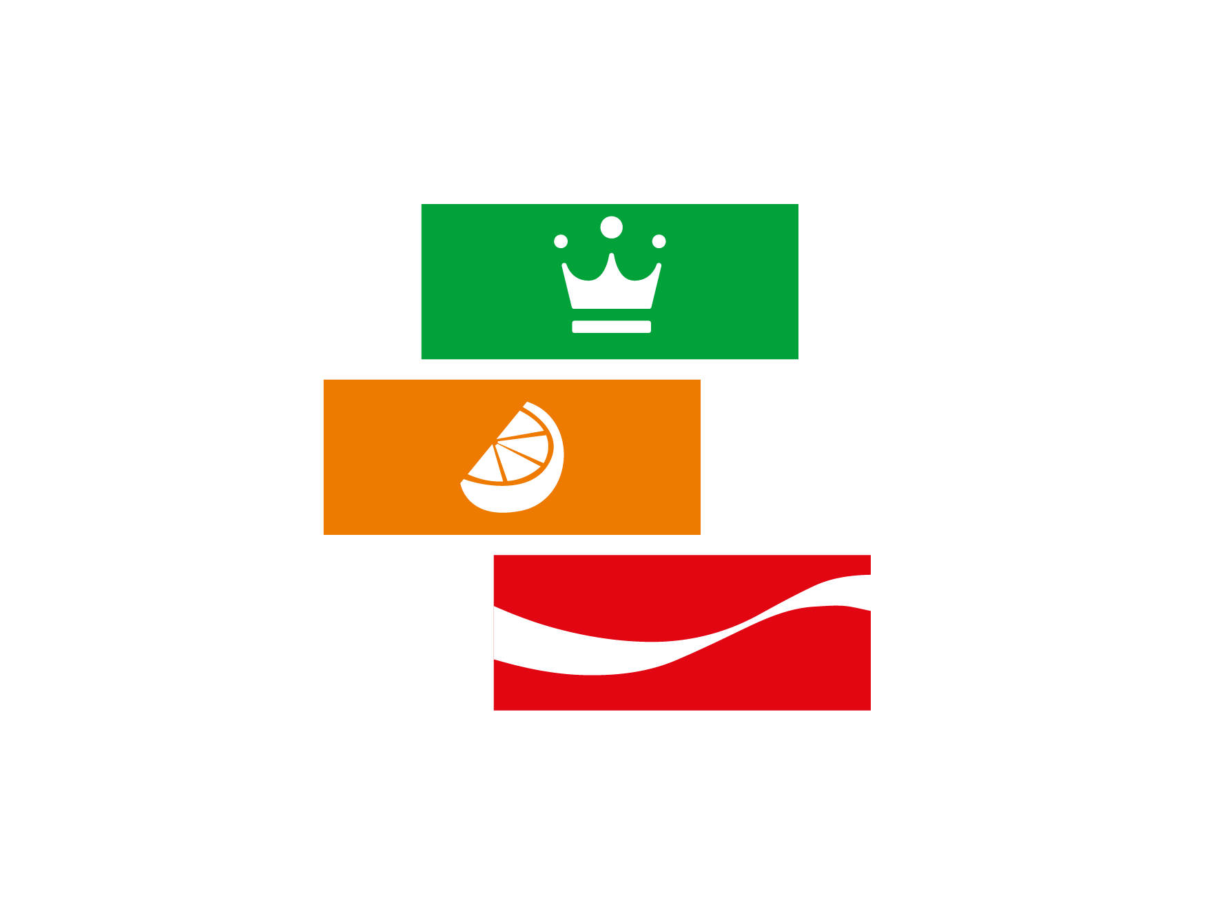 Wide selection of brands on site like Coca Cola, Appletizer and Fanta