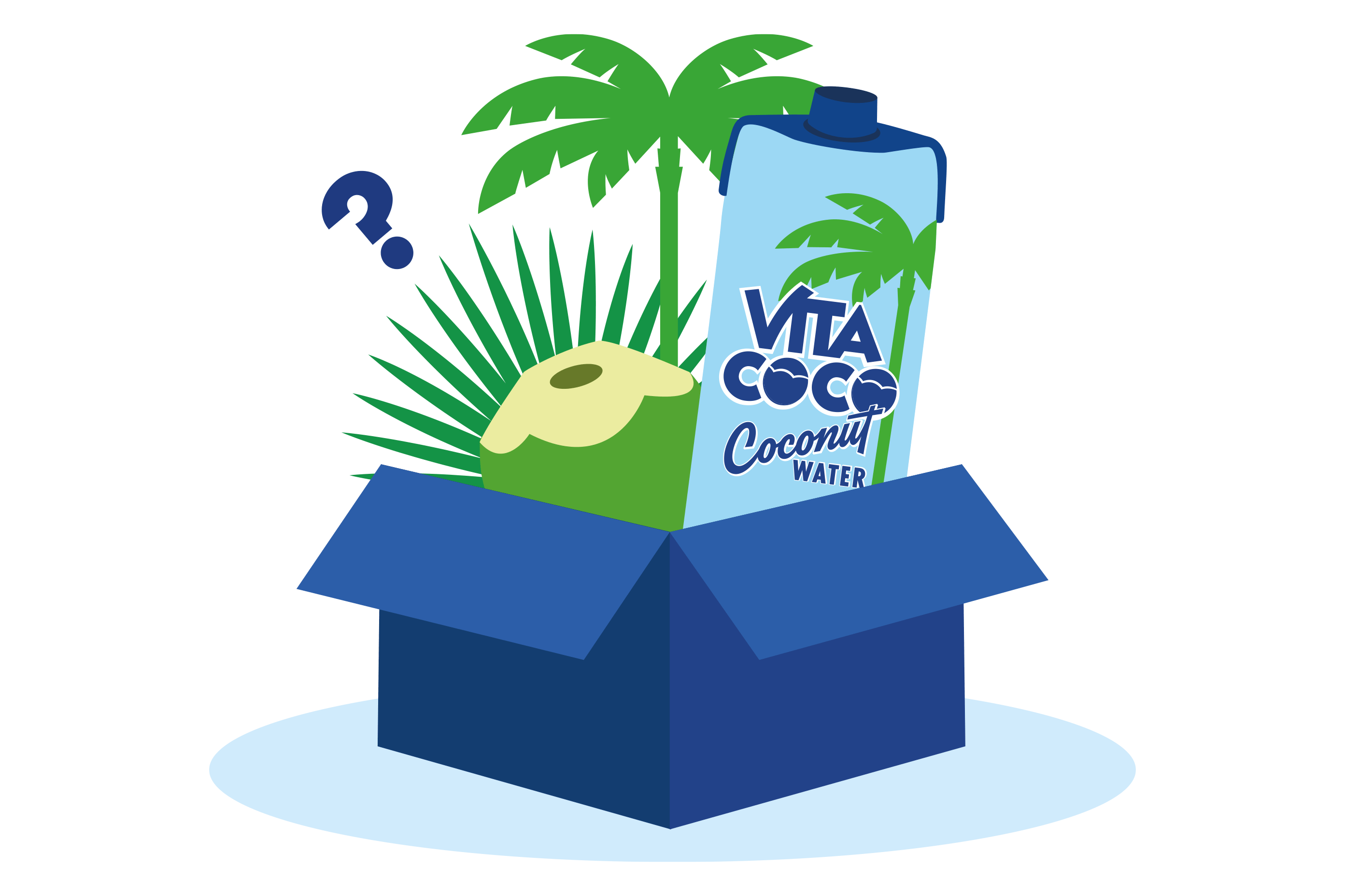 Box with Vita Coco Products