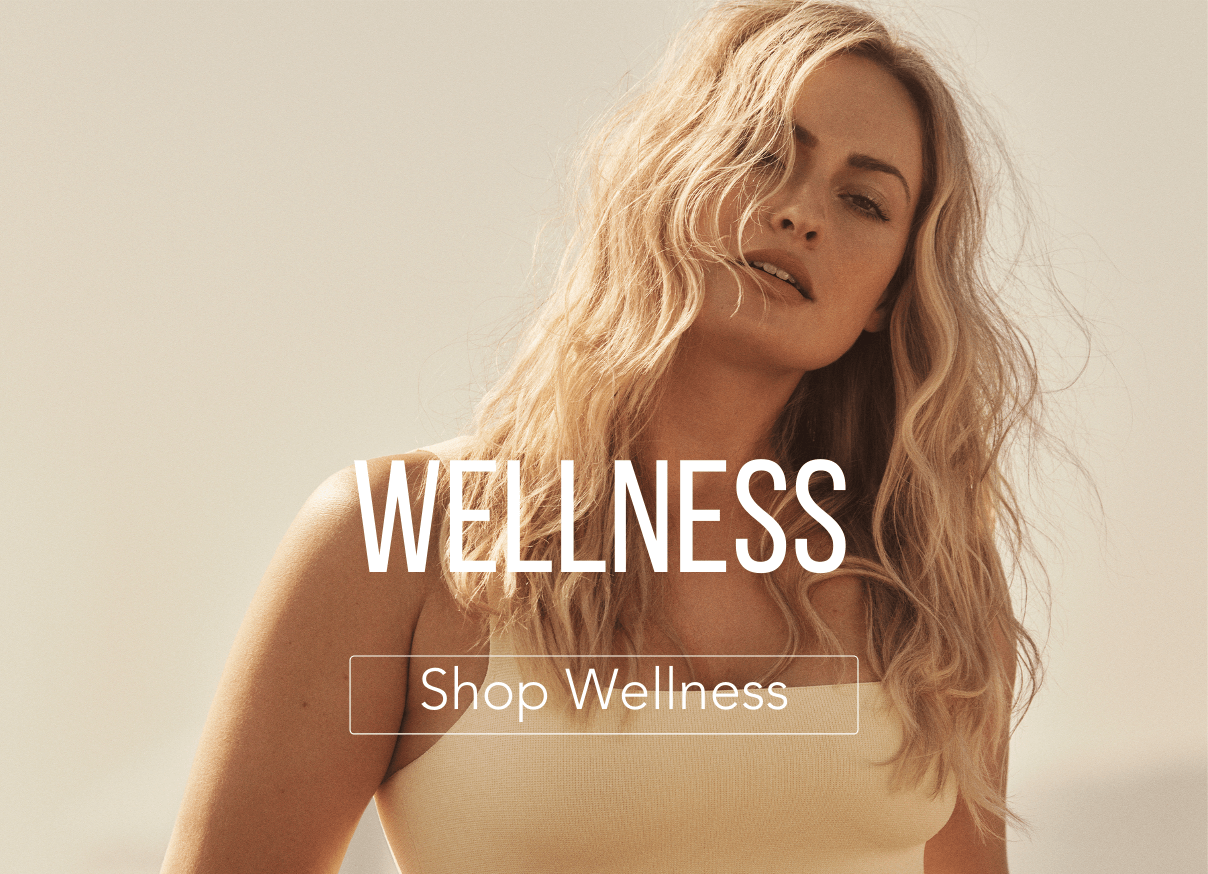 Women looking at camera with text for wellness supplements