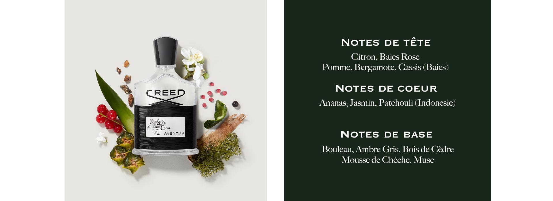 Notes De Tete: Citron, Baies Rose, Pomme, Bergamote, Cassis (Baies). Notes De Couer: Ananas, Jasmine, Patchouli (Indonesie). Notes De Base: Bouleau, Ambre Gris, Bois De Cedre, Mousse De Cheche, Muse.