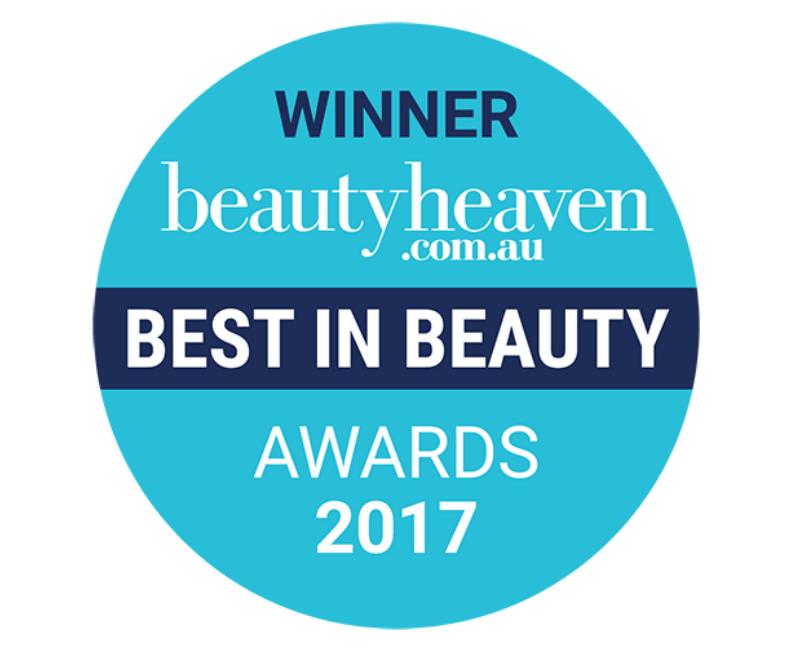 Winner beautyheaven.com.au best in beauty awards 2017 roundel