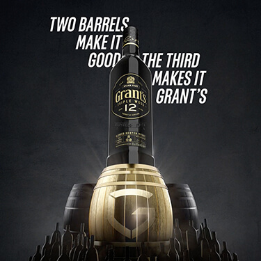 Two barrels make it good, the third makes it Grant's