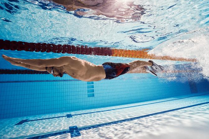 Performance swimwear for men