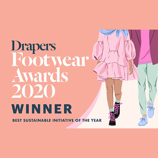 Drapers footwear awards 2020 winner - best sustainable initiative of the year