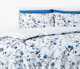 in homeware blue bedding