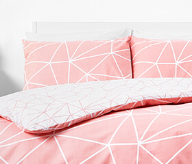 in homeware pink bedding