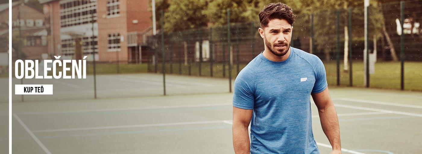 Fitness modely spuštěn venku v myprotein sportovního výkonu oblečení