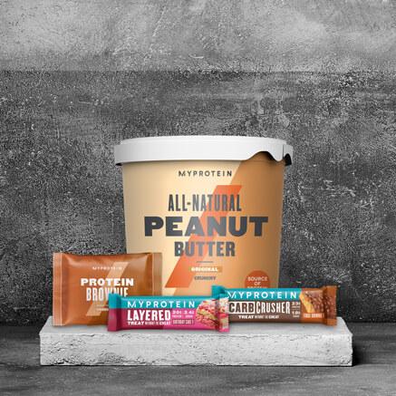 Proteinbarer og snacks
