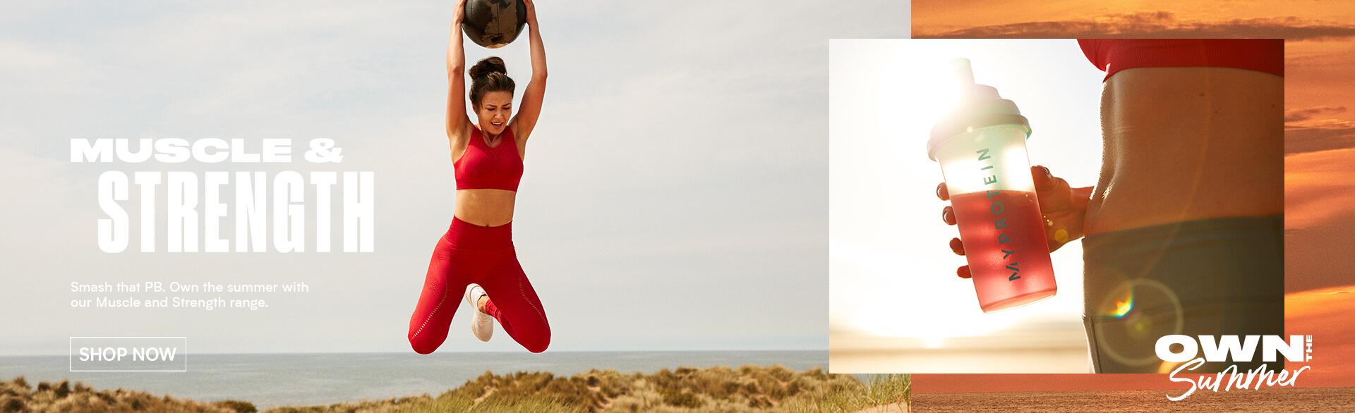 Myprotein Summer goals- muscle & strength banner