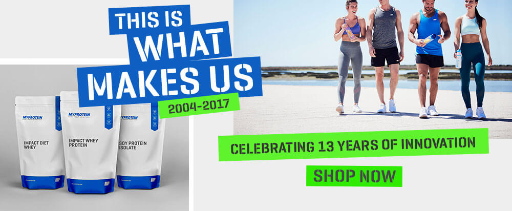 shop now at myprotein celebrating 13 years of innovation
