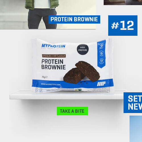 high protein brownie in the packet next to number 12