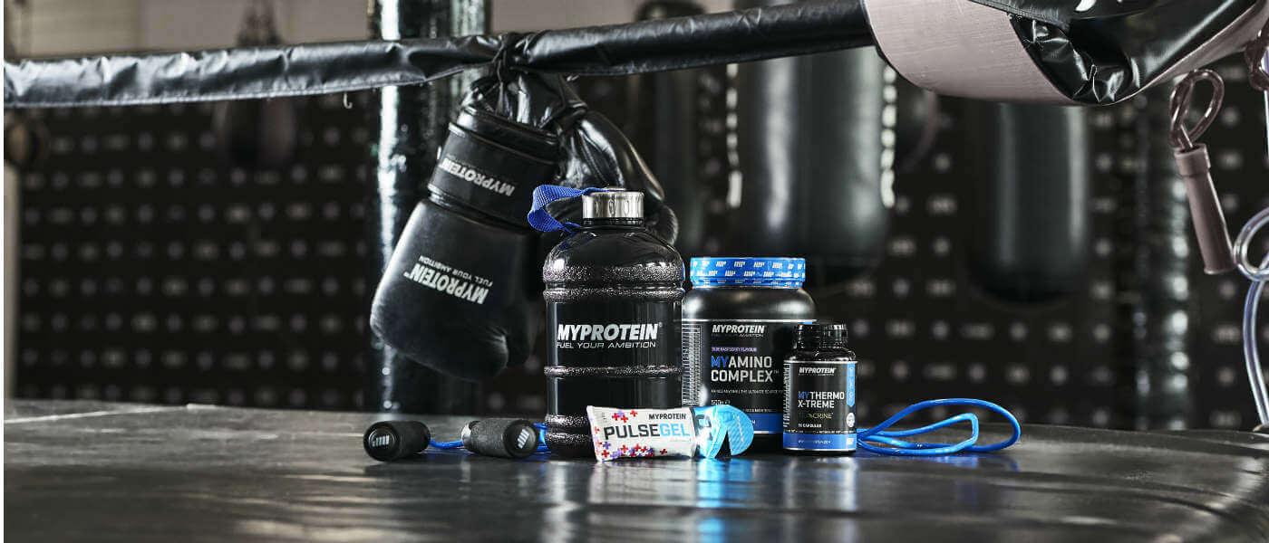 Myprotein tuotteet täydellinen nyrkkeily ja kamppailulajeja incuding preworkout sekoitukset ja Proteiinijuomien