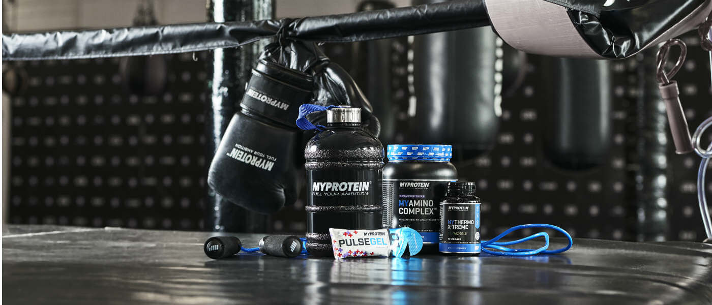 gamme de produits mma de myprotein