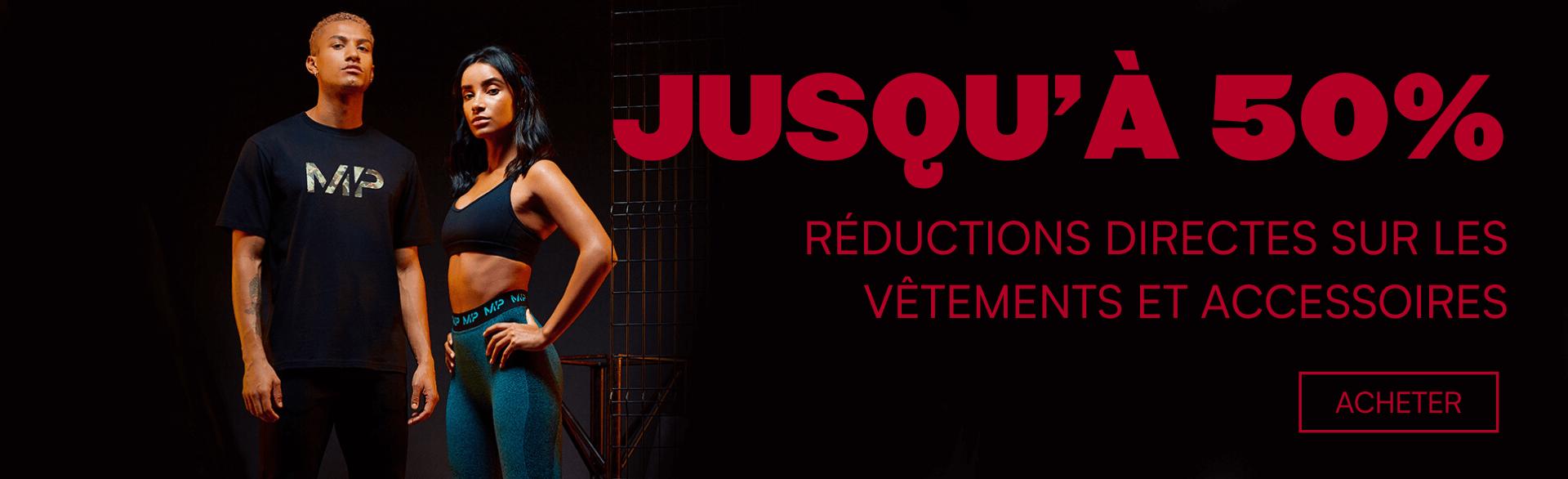 Jusuq'à 50% sur les vêtements et accessoires