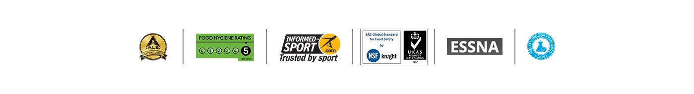 kvaliteta logotipi i nagrade za myprotein proizvoda trake